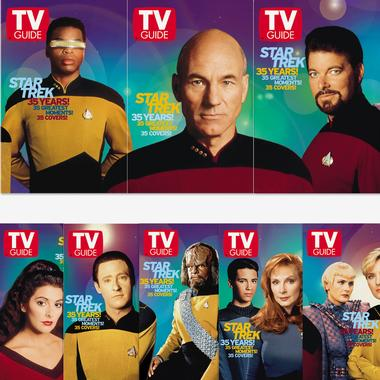 TV Guide 35th Anniversary covers: ST:TNG